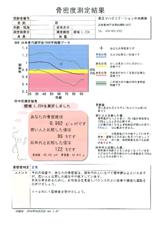 骨密度測定結果例(正常分)