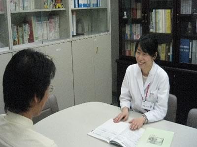 患者さんとの面談の写真