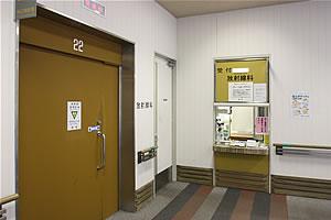 放射線科の入り口の写真