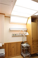 光治療器室の写真 室内の様子