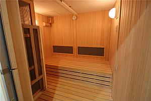 低温サウナ室の写真 室内の様子